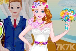 《设计你的海滩婚纱》游戏画面3