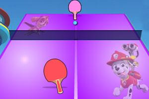 《狗狗巡逻队打乒乓》游戏画面1
