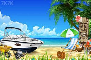 逃离美丽海滩