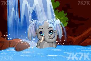 《给小象洗澡》游戏画面3