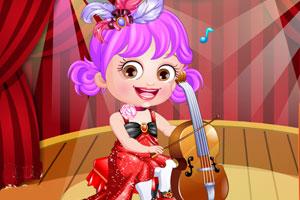 可爱宝贝当音乐家