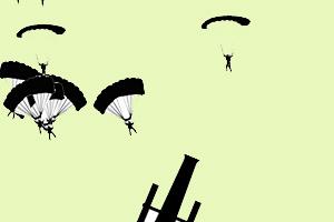 《射击降落伞》游戏画面1