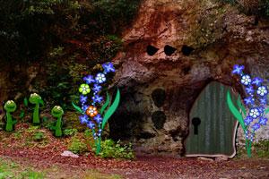 《大森林洞穴逃脱》游戏画面1