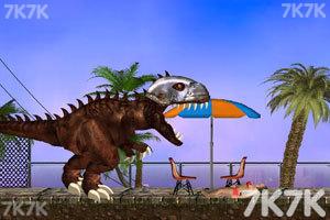 《霸王龙大战食人鲨无敌版》游戏画面5
