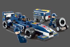 《乐高F1赛车拼图》游戏画面1