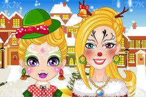 《圣诞节芭比母女时尚彩绘》截图1