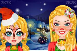 《圣诞节芭比母女时尚彩绘》截图2
