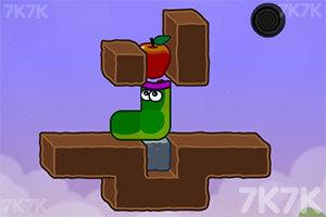 《貪吃的蘋果蟲》游戲畫面3