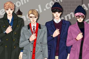 《韩版男式大衣》游戏画面1