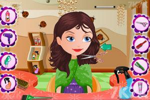 《宝贝丽丝一家新发型》游戏画面3