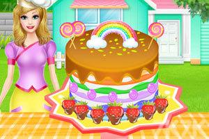 《彩虹蛋糕的制作》游戏画面1