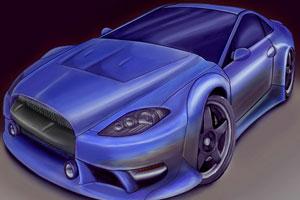 《3D赛车拼图》游戏画面1