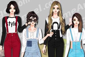 韩国女子时尚吊带装