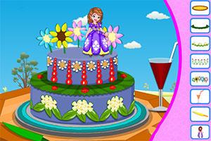 《制作索菲亚蛋糕》游戏画面1
