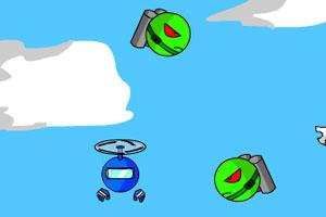 《小蓝空中冒险》游戏画面1