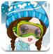 时尚的滑雪女孩