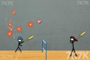 《火柴人打羽毛球3》游戏画面1