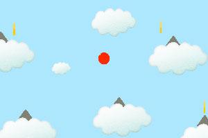 可爱的红色跳球