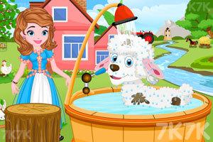 《索菲亚照顾小羊羔》游戏画面3