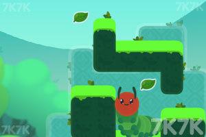 《爱吃叶子的毛毛虫》游戏画面3