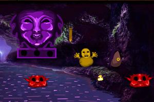 《逃离神秘红色洞穴》游戏画面1