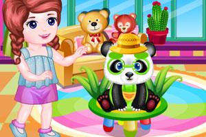 照顾宠物熊猫