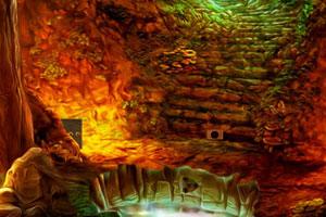 《森林神秘洞穴逃脱》游戏画面1