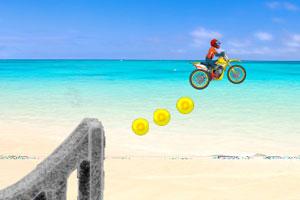 《沙滩摩托炫技》游戏画面1