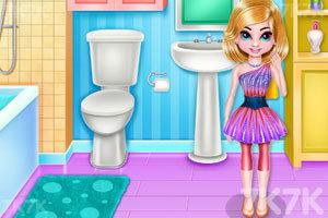 《双胞胎女孩房间清洁》游戏画面1