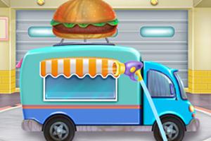 清洗食品卡车