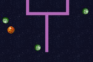 《躲避小皮球》游戏画面1