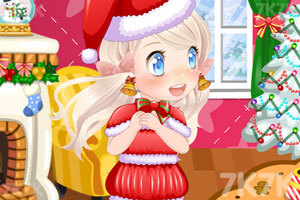 《可爱的女孩过圣诞》截图2
