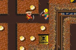 《挖矿少年选关版》游戏画面1