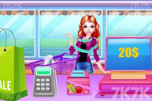 《漂亮女孩购物》游戏画面2
