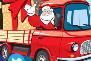 《圣诞老人送礼拼图》游戏画面1