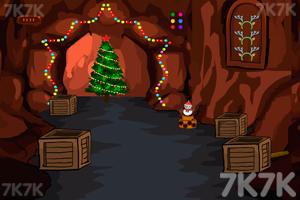 《圣诞老人洞穴逃脱》游戏画面3