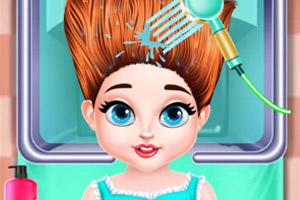 宝贝的创意发型