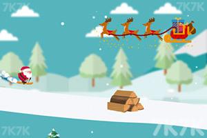 《圣诞老人躲雪崩》游戏画面1