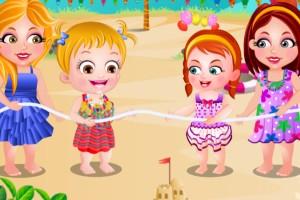 宝贝的海边派对
