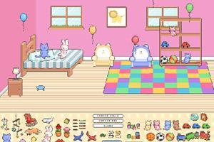 可爱像素卧室