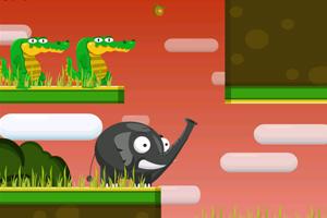 大象喂鳄鱼