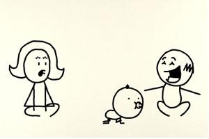 铅笔画小人26