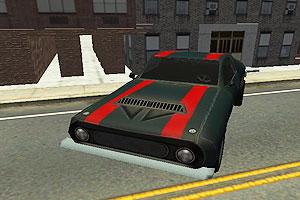 3D跑车城市停车