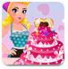 女孩做蛋糕