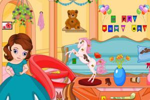 索菲亚打扫新年房间