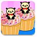 熊猫纸杯蛋糕