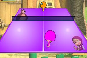 玛莎和熊打乒乓
