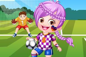 可爱宝贝当足球员
