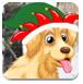圣诞节狗狗逃脱