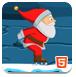 滑冰的圣诞老人